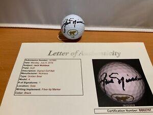 HOF Golf Jack Nicklaus Autographed Golf Ball JSA Cert