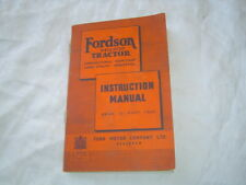 1951 Ford Fordson Major tractor operator's instruction manual