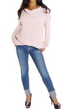 Maglie e camicie da donna rosa in seta, taglia 42
