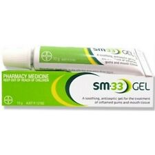 BRAND NEW SM33 GEL 10G ANTISEPTIC FOR TEETHING AND INFLAMED SORE GUMS