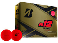Bridgestone e12 Soft Golf Balls - 1 Dozen Matte Red -  Mens