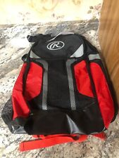 Rawlings Baseball Backpack 20� Black / Red