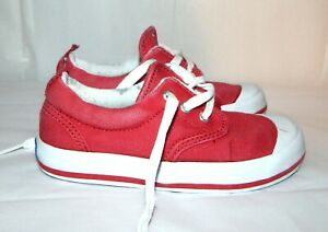 KEDS GRAHAM SNEAKERS TENNIS SHOES GIRLS BOYS RED CANVAS  SIZE 10M