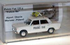 PL, Polski Fiat 125p, Airport follow me, trasformazione, 1/43, DDR, Polonia