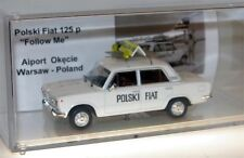 Polski Fiat 125P Airport-Fahrzeug Follow me Warschau / Polen  Umbau-Modell 1/43