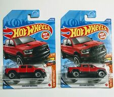 2020 Hot Wheels - RAM 1500 REBEL - Red New Casting - N Case Lot of 2
