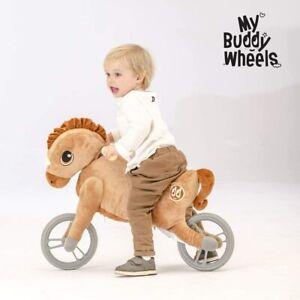 Yvolution My Buddy Wheels Dino Unicorn Horse Balance Bike with Plush Toy Train