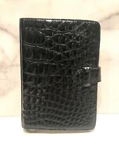 SISO Black Glossy Alligator Address Book Planner Agenda