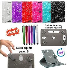 "360° Rotate Bling Case Cover Stand Fits 7"" Inch ASUS MeMo Pad HD 7 (ME173X)& PEN"