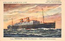 Postcard Holland-America Line T.S.S. Veendam~110276