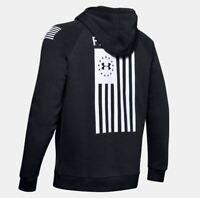 Under Armour Men's UA Freedom Flag Rival Hoodie Black 1352678-001