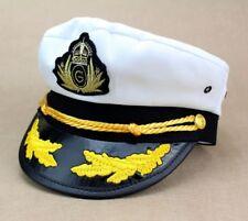 Unisex Luxury Captain Hat Marine Sailer Fancy Dress Cap Dress Accessory New