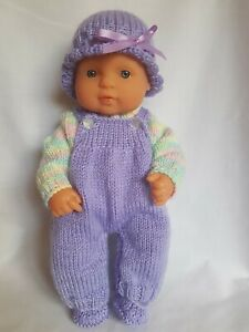 Handmade dolls clothes (Four piece Winter set), fit 32cm Miniland doll