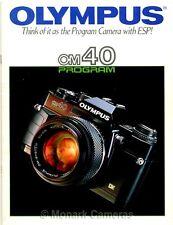 Olympus OM40 Program Camera & Lens System Brochure, More OM Catalogues Listed