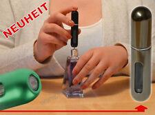 NEUHEIT Mehrweg mini Parfümflasche Pocket Atomizer für Tasche Reise BRONZE-CHROM