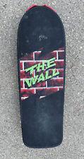 "Vintage Makaha Concave ""The Wall"" 1986 Skateboard Black W/Wall Sticker Sharp"