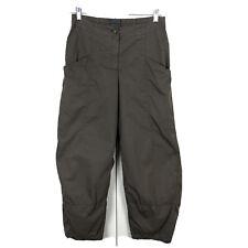 Oska High Rise Brown Cotton Seamed Straight Leg Pant Women's Size 2