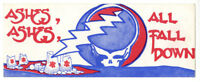 GRATEFUL DEAD 1980's Vintage BUMPER STICKER 4 x 11 Throwing Stones - BOB WEIR