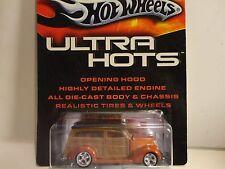Hot Wheels Ultra Hots Orange '37 Ford Woody w/Real Rider Wheels