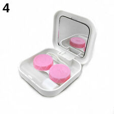 Portable Contact Lens Case Container Travel Kit Set Storage Holder Mirror Box