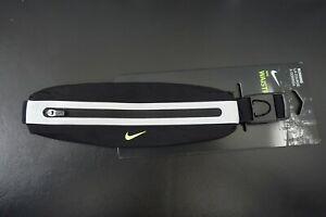 NIKE Slim Running Waist Pack Adjustable Black/Neon/Reflective Silver - Unisex