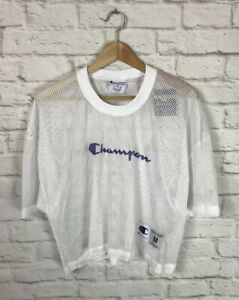 NEW Champion Mens White Mesh Short Sleeve Shimmel Jersey Shirt Size Medium