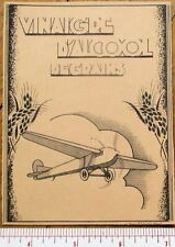 Printer's Proof 1930s Bottle Label w/Airplane - Vinaigre d'Alcool de Grains
