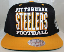 d2f342a1626bd NFL Pittsburgh Steelers XI Type Mitchell   Ness Snapback w patch -  Black Gold