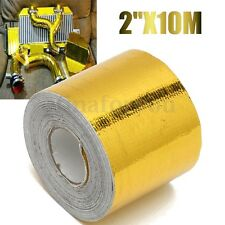10m Fiberglass Self Adhesive Gold High Temperature Heat Shield Wrap Tape Barrier