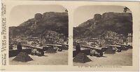 Monaco Vista Su La Terrasse Del Château Stereo Vintage Analogica Ca 1910