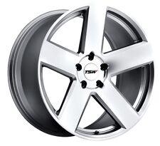 19x8.5 TSW Bristol 5x112 Rims +43 Silver Wheels (Set of 4)