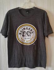 2 GINGERS Irish Whiskey Big Logo Short Sleeve Gray T-Shirt Size M Liquor NWOT