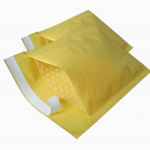PADDED BUBBLE LINED ENVELOPES / BAGS - GOLD MAILERS - ALL SIZES & AMOUNTS