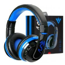 Bluetooth 4.0 Headset Wireless Stereo Super Bass Music Headphone with Mic Blue