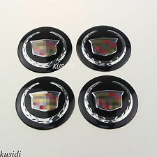 "4x 56mm 2.2"" Cadillac Wheel Center Hub Cap Emblem Badge Decal Sticker"