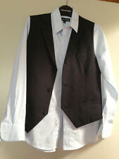 BOYS FORMAL MATCHING PANTS AND VEST AND A SHIRT - EXCELLENT CONDITION