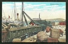 Cebu Docks Train Ship Harbour Visayas Philippines ca 1910