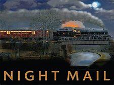 More details for night mail train large steel sign 400mm x 300mm (og)