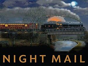 Night Mail Train small steel sign 200mm x 150mm (og)