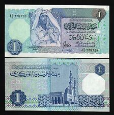 LIBYA 1 DINAR P54 1988 GADAFFI MOSQUE UNC QADDAFI AFRICA CURRENCY BILL BANK NOTE