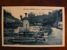 cpa 38 chasse sur rhone fontaine st martin