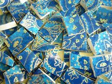 Broken China Mosaic Tiles - Blue & Gold OPULENCE mosaic tiles