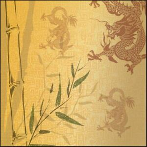 """Sugartree 12 x 12"""" 2 sheets scrapbooking paper - Dragons - Single sided"""