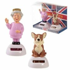 Queen and Corgi Solar Powered Dancing Figure - Car Dashboard Window Sill Toy