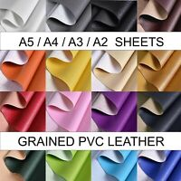 A2 A3 A4 A5 sheet PVC textured FAUX LEATHER grained LEATHERETTE Craft bow Fabric