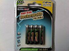 4 x  AAA 350 mAh RECHARGEABLE BATTERIES SUPER HIGHPOWER