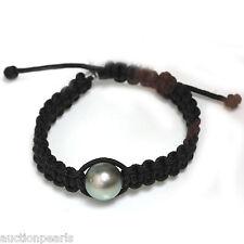 Tahitian  Pearl  Bracelet  Macrame Adjustable 13mm Handmade