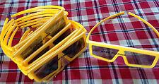 15 Pairs Yellow 3D Glasses Bulk