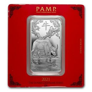 *NEW* 2021 - 100 gram Silver Bar - PAMP Suisse Year of the Ox (SHIPS FREE)