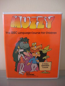 Lot of 2 Muzzy The BBC Language Course for Children Video Spanish English Course